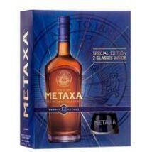 METAXA 12* DD + 2 POHÁR 0,7 L