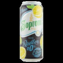 SOPRONI DARK RADLER 0.0% CITROM ALKOHOLMENTES BARNASÖR 0,5 L