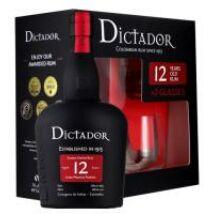 DICTADOR 12 YEARS RUM PDD + 2 POHÁR 0,7 L