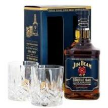 JIM BEAM DOUBLE OAK WHISKY DD + 2 POHÁR 0,7 L